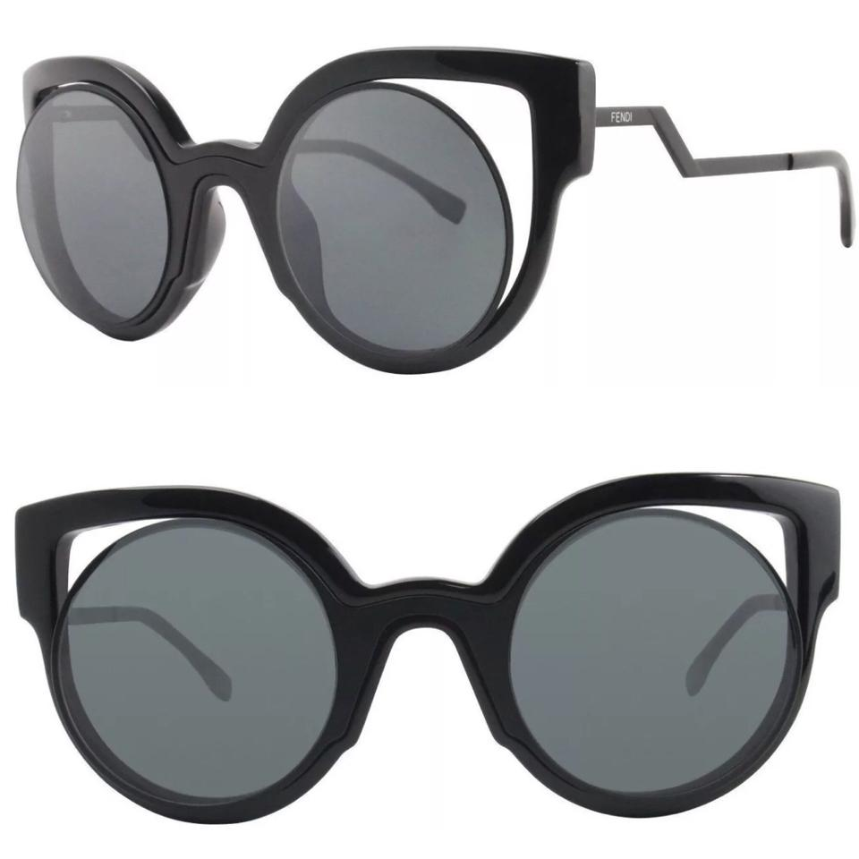 19de5960fd Fendi Black Cut Out Cat Eye Sunglasses - Tradesy