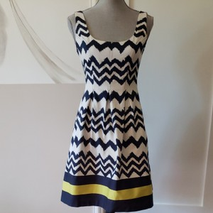 Nine West short dress Blue, white, broad stripe with yellow on Tradesy