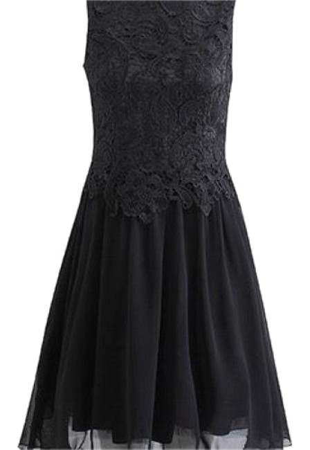 Preload https://img-static.tradesy.com/item/24061884/black-ella-fit-and-flare-w-lace-top-in-and-short-cocktail-dress-size-6-s-0-1-650-650.jpg