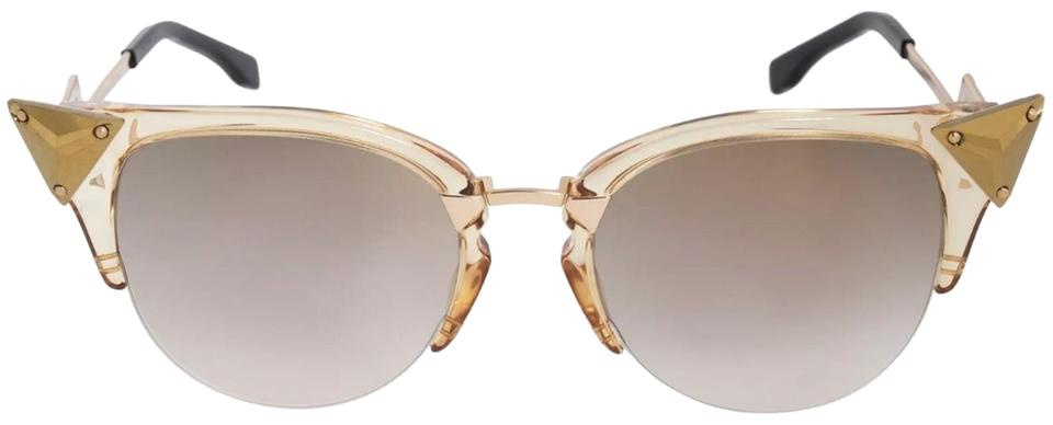 258961f09c Fendi Gold Irridia Cat Eye Sunglasses - Tradesy