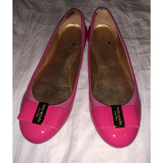 Kate Spade Pink and gold Flats
