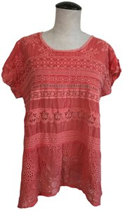 Johnny Was Islet Embroidered Sheer Tunic