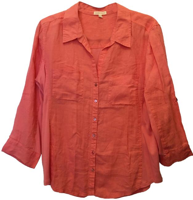 Preload https://img-static.tradesy.com/item/24062093/eileen-fisher-coral-78121-blouse-size-8-m-0-1-650-650.jpg
