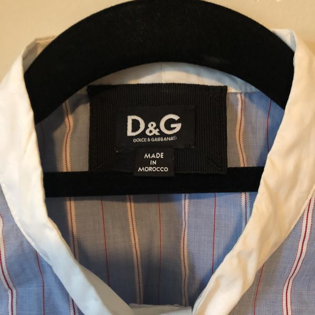 Dolce&Gabbana Button Down Shirt Blue with White and Red