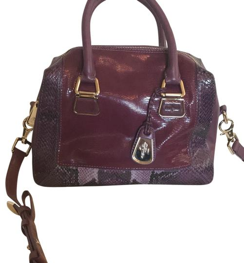 Preload https://img-static.tradesy.com/item/24062213/cole-haan-charlotte-royal-print-berry-leather-satchel-0-1-540-540.jpg