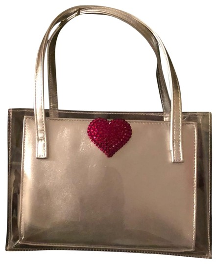 Preload https://img-static.tradesy.com/item/24062221/stuart-weitzman-orbit-quasar-silverred-leathercrystalplastic-satchel-0-1-540-540.jpg