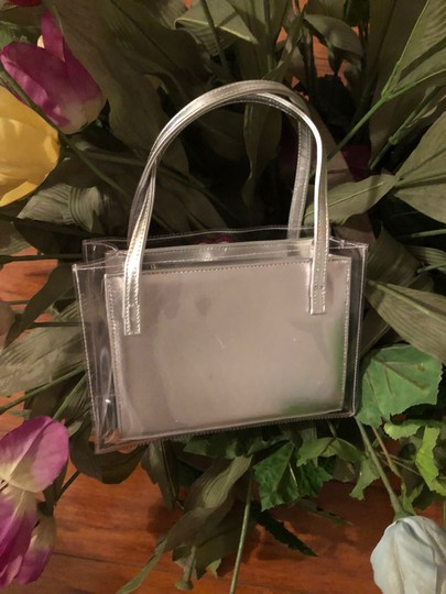 Stuart Weitzman Satchel in Silver/Red