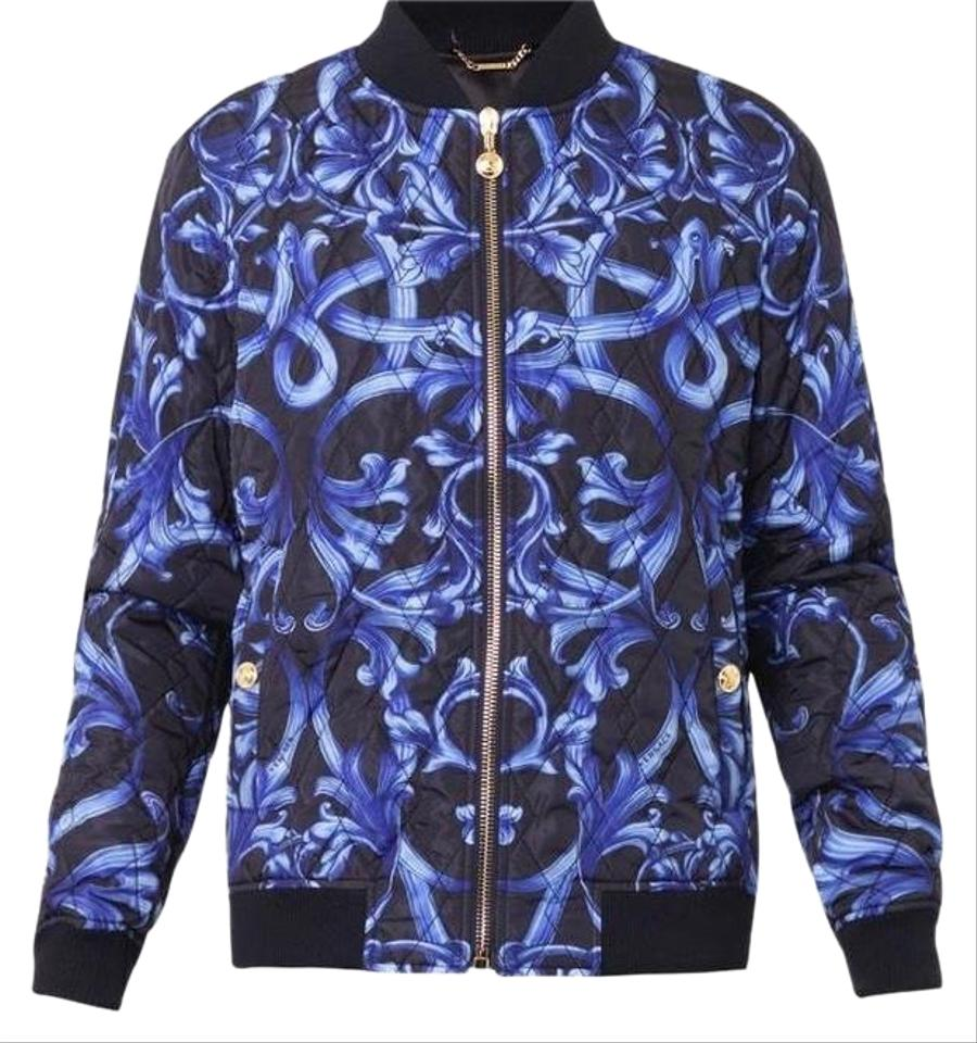 36d4a41265 Versace Blue Men's Quilted Bomber Jacket Size 12 (L) 37% off retail