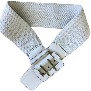 3.1 Phillip Lim 3.1 Phillip Lim White Crochet Belt with Leather Buckle