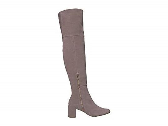 Taryn Rose Suede Leather Over The Knee Gray Boots
