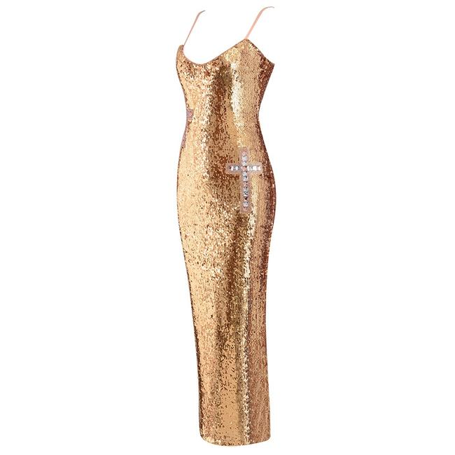 DIOR BELLA Cocktail Special Occasion Sequins Maxi Dress