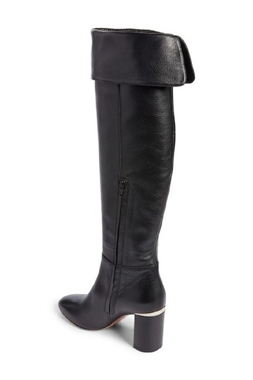 Lewit Leather Tall Over The Knee Black Boots