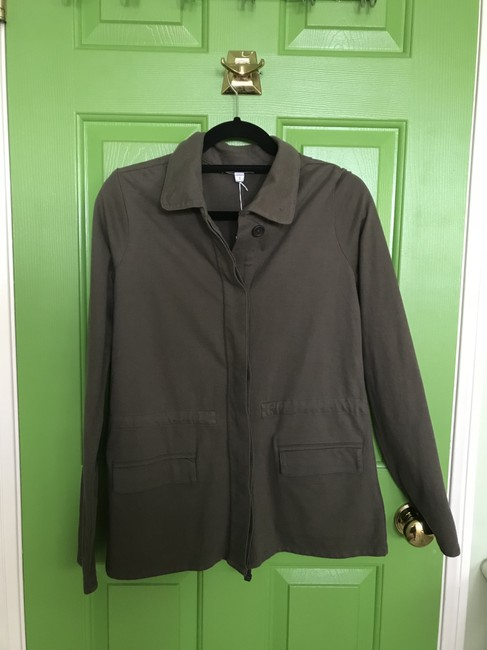 James Perse Army Military Shirt Green Jacket