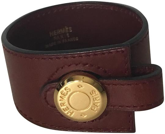 Preload https://img-static.tradesy.com/item/24062380/hermes-burgundy-leather-bracelet-0-1-540-540.jpg