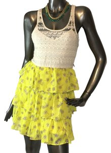 City Studios short dress yellow on Tradesy