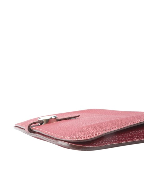Hermès Hermes Dogon Combined Rubis Clemence Leather Wallet (154975)