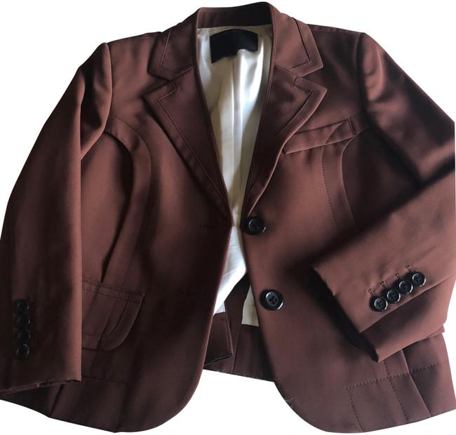 Preload https://img-static.tradesy.com/item/24062437/marc-jacobs-brown-three-quarter-sleeves-blazer-size-4-s-0-2-650-650.jpg