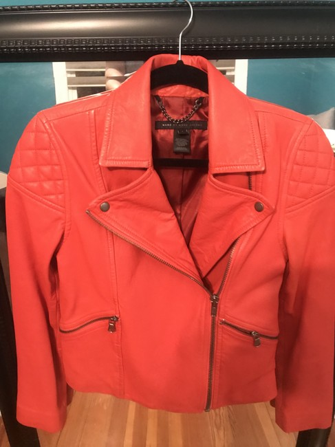 Marc by Marc Jacobs Flamingo Red Leather Jacket
