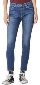AG Adriano Goldschmied Stretchy Distressed Skinny Jeans-Medium Wash
