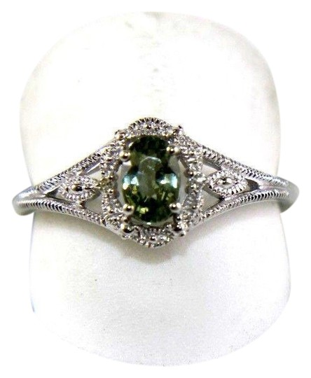 Preload https://img-static.tradesy.com/item/24062469/green-and-silver-oval-cut-sapphire-wdiamond-halo-14k-white-gold-73ct-ring-0-1-540-540.jpg