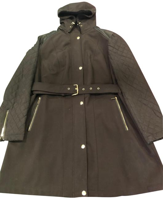 Item - Black Hooded Quilted Coat Size 16 (XL, Plus 0x)