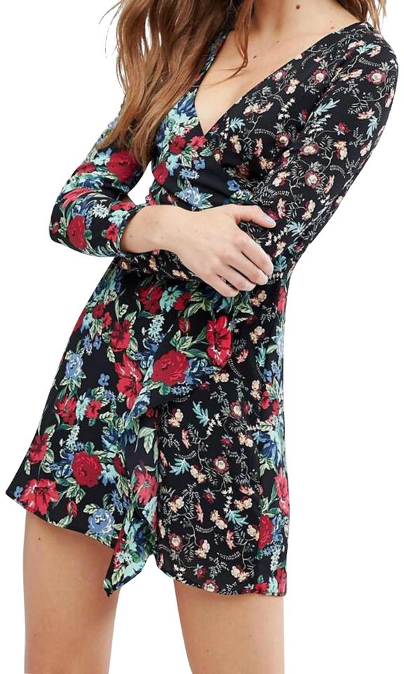 c32b39dd Zara Floral Berksha From Long Sleeve Short Casual Dress Size 12 (L ...