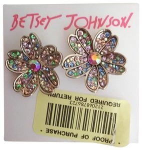 Betsey Johnson Betsey Johnson New Multi-Colored Flower Earrings
