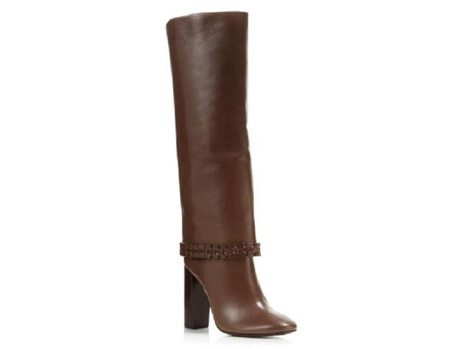 a62f578a2d8 Tory Burch Brown Sarava Leather Knee Boots Booties Size US 8.5 ...