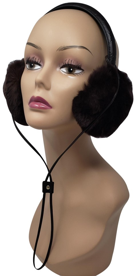 Gucci Brown Guccissima Leather Ear Muffs Hat 47% off retail
