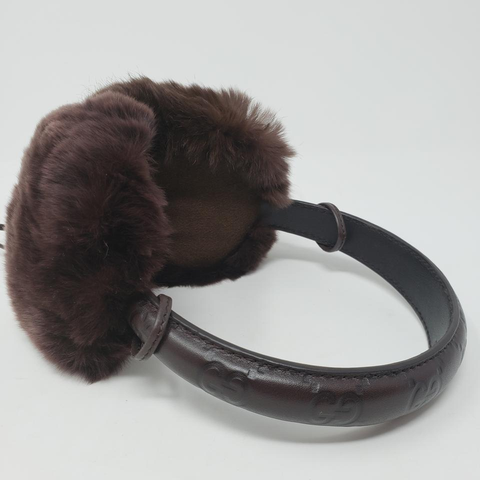 8d4e05667 Gucci Brown Guccissima leather Gucci ear muffs Image 11. 123456789101112