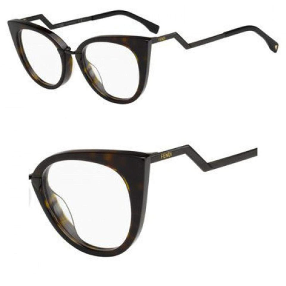 c637275226 Fendi NEW Fendi 0119 Brown Iridia Cat Eye Zig Zag Eyeglasses Frames Image 0  ...