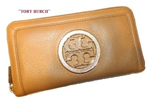 Tory Burch ~Sold out~TORY BURCH Continental Amanda Leather Royal Tan Wallet