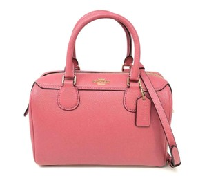 Coach Womens Satchel in Peony Pink