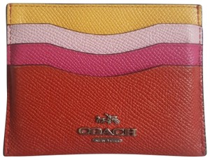 Coach Multi-color Leather Credit Card Holder