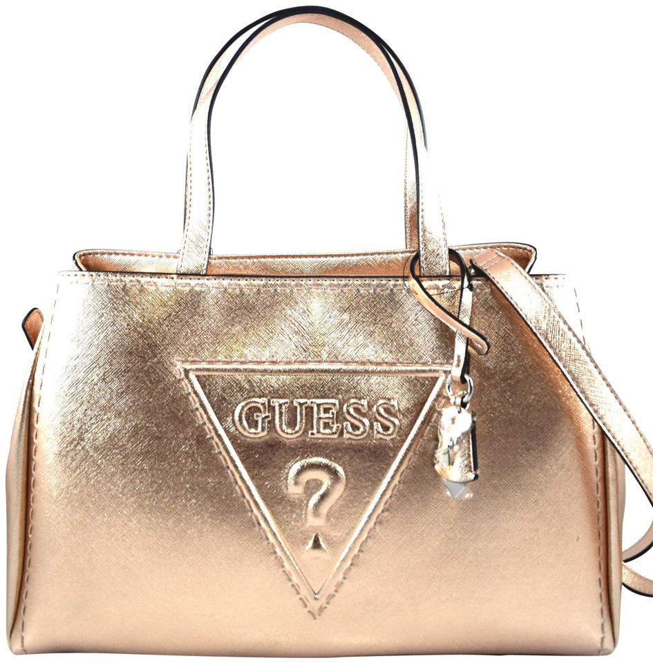 9aaaa8981d Guess Baldwin Park Rose Gold Faux Leather Satchel - Tradesy
