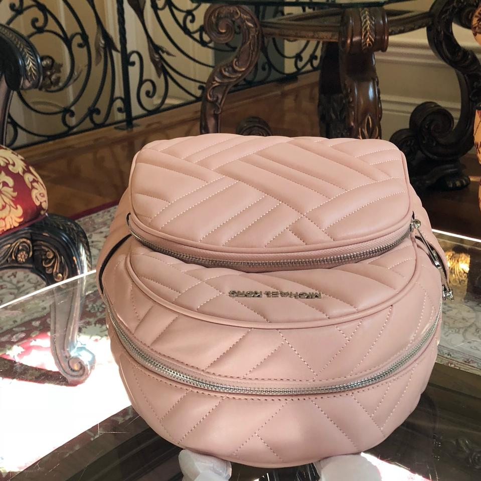 a8c897113482 Michael Kors Quilted Leather Medium Abbey Holiday 2018 Gift Backpack Image  5. 123456