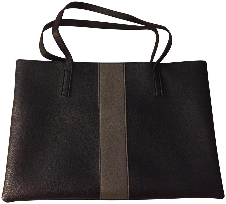 Vince Camuto Luck Black Grey Vegan Leather Tote Tradesy