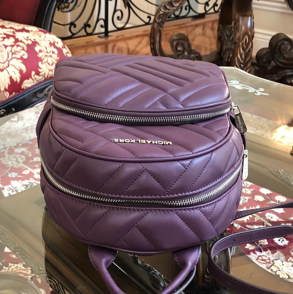 812fa1efe6c1 Michael Kors Quilted Leather Medium Abbey Holiday 2018 Gift Backpack Image  10. 1234567891011