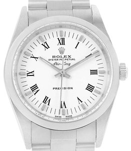 Rolex Rolex Air King 34mm White Dial Oyster Bracelet Mens Watch 14000