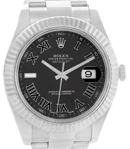 Rolex Rolex Datejust II Steel White Gold Grey Dial Mens Watch 116334 Box