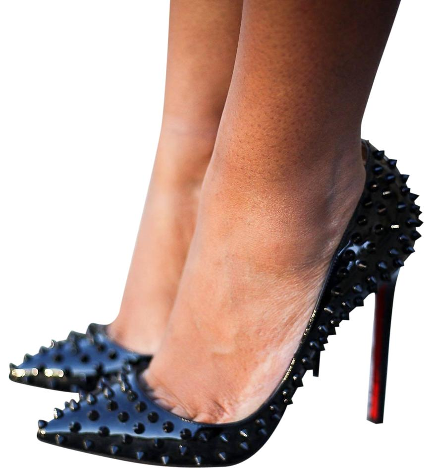 847241281fbc Christian Louboutin Pigalle Spike Patent Leather Black Pumps Image 0 ...