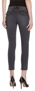 PAM & GELA Distressed Lace Up Pants Skinny Jeans-Distressed