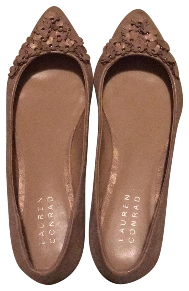 460a50aee47a LC Lauren Conrad Rose Gold Pointed Flats Size US 7.5 Regular (M