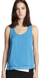 A.L.C. Silk Chic Bright Comfortable Fall Top Turquoise
