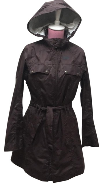 Item - Brown Hooded Coat Size 4 (S)