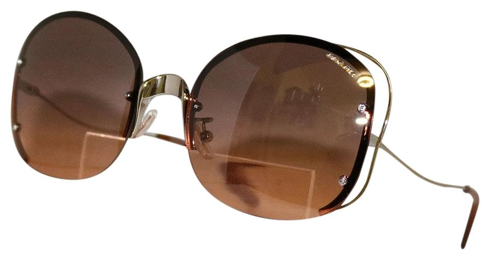 c676d58ac22c ... hot coach brand new coach sunglasses. hc7081 hc 7081 929218 shiny light  gold 83f38 672c5