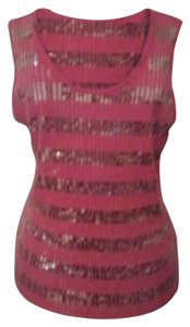 Cato Edgy Wild Beaded Punk Top Pink