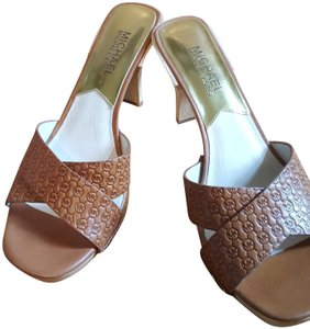 Michael Kors Tan/Brown Mules