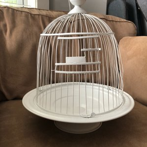 BHLDN White Birdcage For Cards Reception Decoration