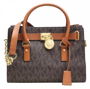 Michael Kors Satchel in Logo Design - Brown